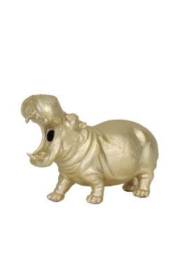 Goudkleurige Nijlpaard Lamp