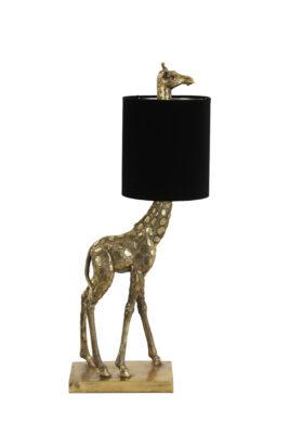 Giraffe Lamp Brons Met Zwarte Velvet Kap