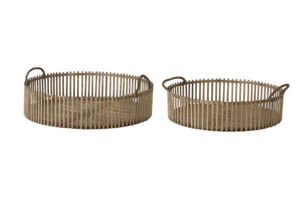 Mand Bamboo Rond (set Van 2)