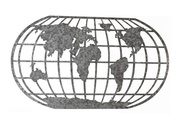 Metalen Wereldkaart