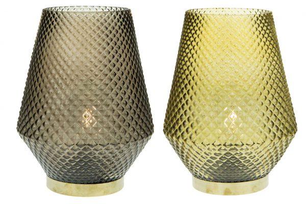 Vaas Met Een Lampje En Een Goudkleurig Randje