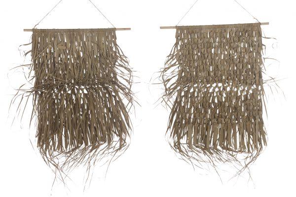 Palmbladeren Mat Hanger Op Stok