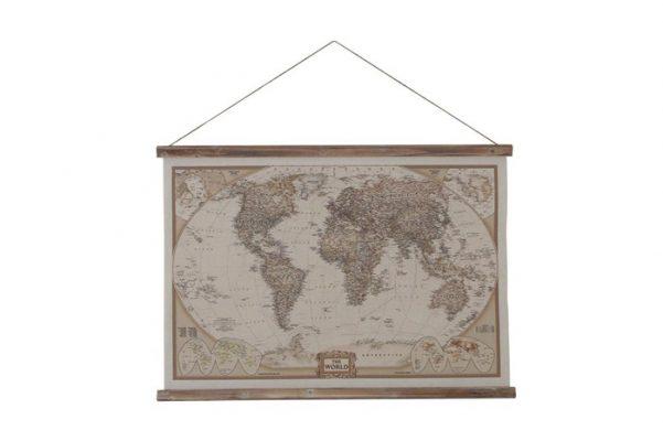 Wereldkaart Met Een Touw