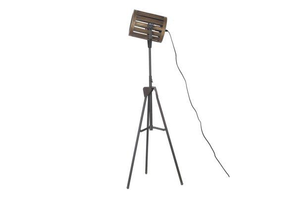 Staande Metalen Lamp Zwart L
