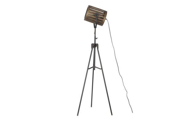 Staande Metalen Lamp Zwart XL