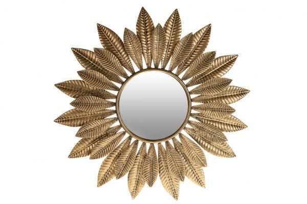 Spiegel Zonnebloem Goud