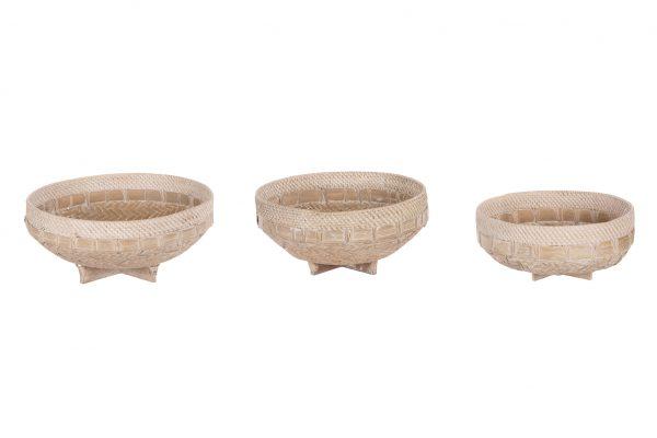 Bamboo Schalen Set Van 3 Stuks