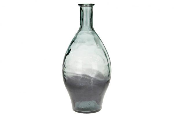Grijze Vaas Van Gerecycled Glas L
