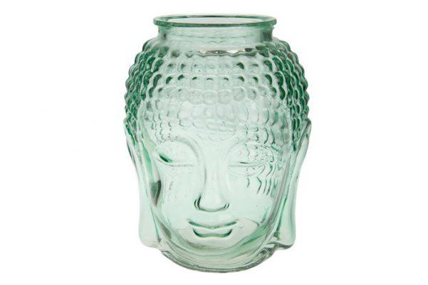 Buddha Hoofd Vaas Van Glas