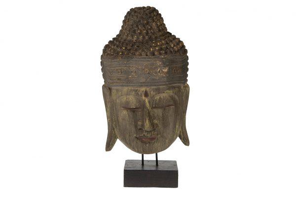 Buddha Hoofd Op Een Standaard L