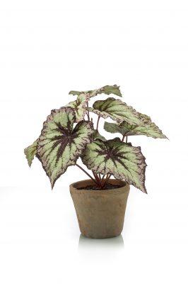 Begonia Kunstplant In Een Pot 2 Stuks