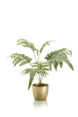 Kunst Plant In Goudkleurige Pot 67 Cm
