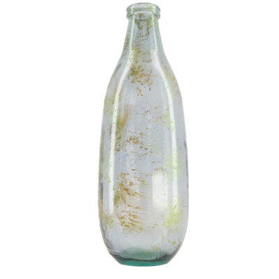 Vaas Van Gerecycled Glas Grijs Goud