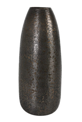 Metalen Vaas Koper Zwart L