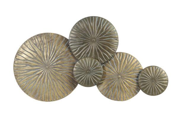 Metalen Wanddecoratie Goud Brons