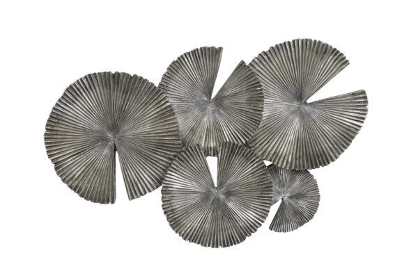 Metalen Wanddecoratie Grijs Bruin