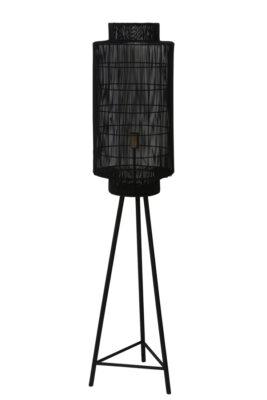 Vloerlamp Zwart L Stripe