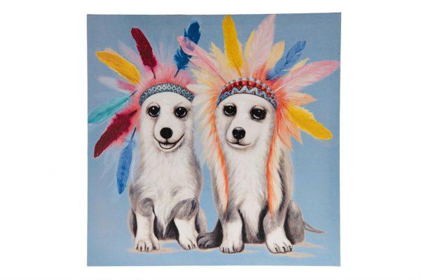 Canvas Schilderij Honden 3D