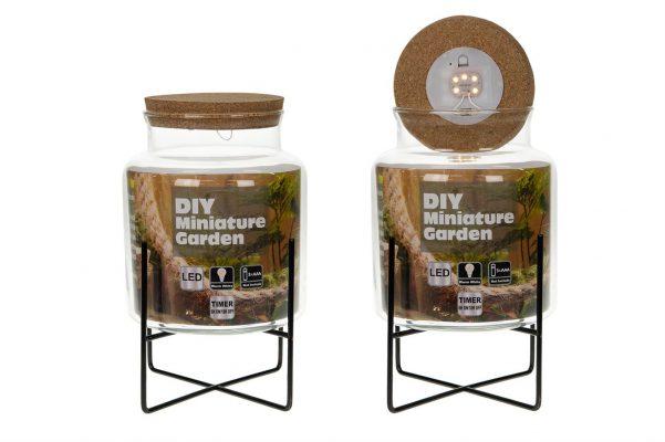 Glazen Pot Voor Plantjes Met Led Verlichting