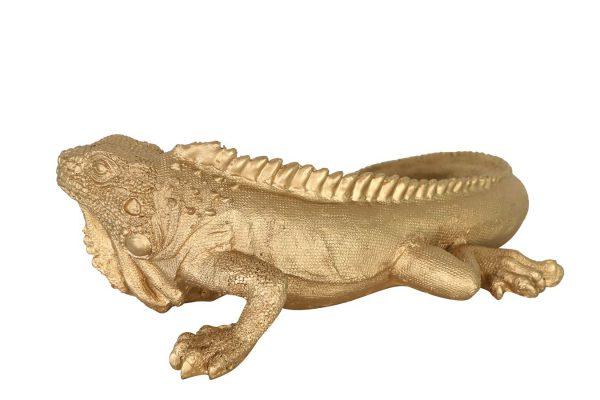 Goudkleurige Hagedis Decoratie Object