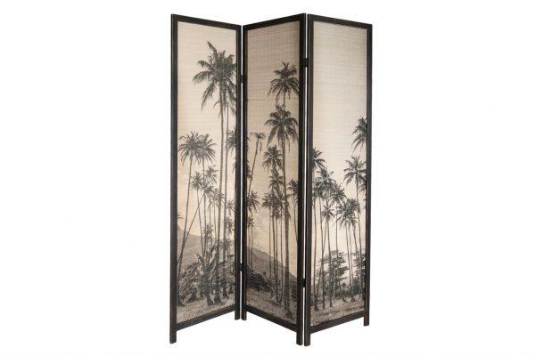 Kamerscherm Van Bamboo Zwart Creme