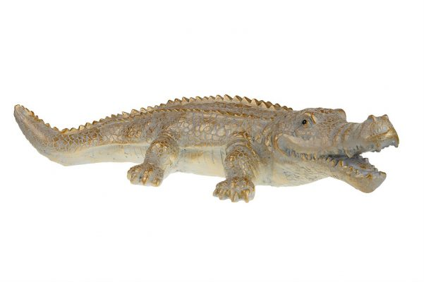 Goudkleurige XL Krokodil