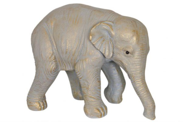 Levensechte Olifant Decoratieobject Gold Wash