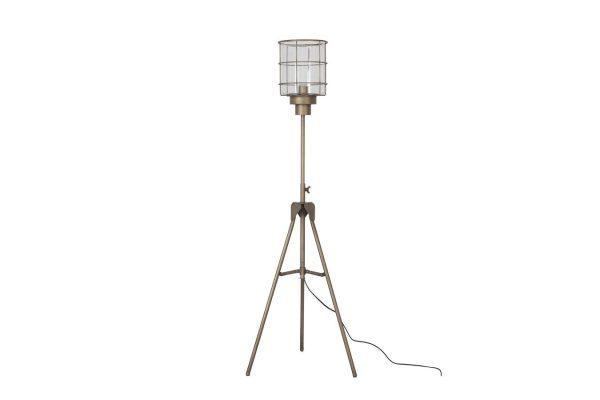 Staande Goudkleurige Lamp Met Unieke Kap L