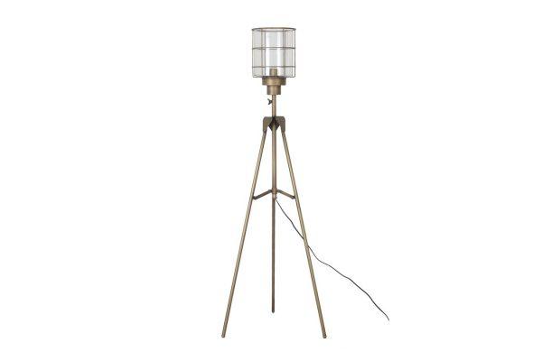 Staande Goudkleurige Lamp Met Unieke Kap XL